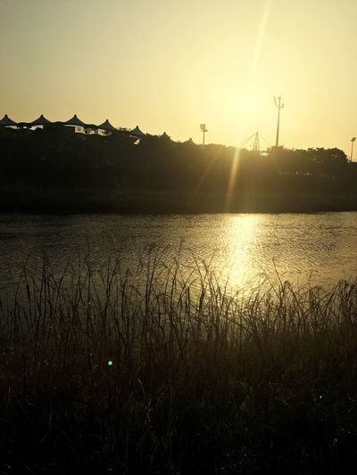 Sunset Nature Sun Beauty In Nature Water Tranquil Scene Tranquility Sunbeam No People Sungnam Bundang