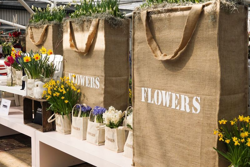 Flowers In Jute Bags For Sale
