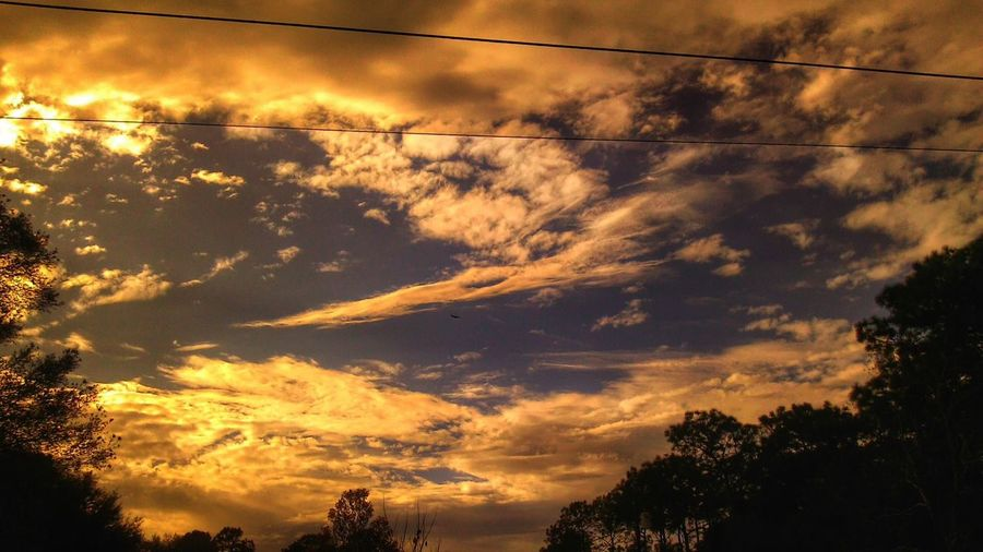 Beauty In Nature Cloud - Sky Dramatic Sky Nature No People Orange Color Outdoors Sky Sunset In Citrus County Florida Open Edit For Everyone Sunsetswith Clouds