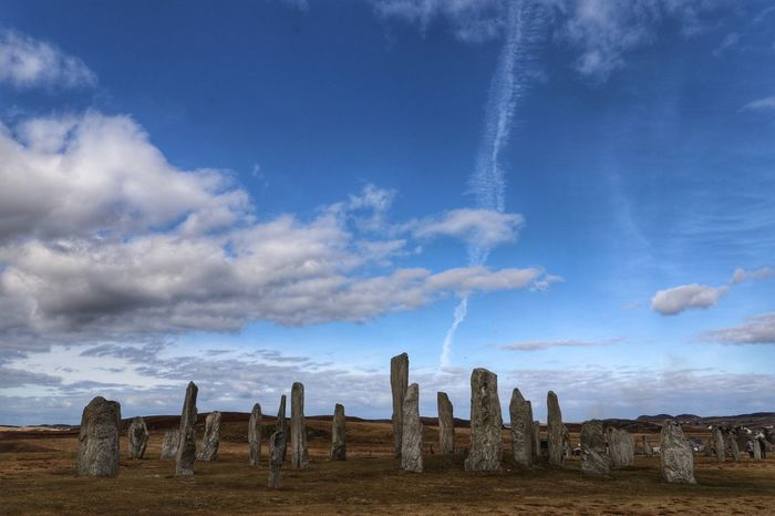 Standing Stones of Callanish on the Isle of Lewis Monuments Of The World Monuments Historical Monuments Callanish Stones Outer Hebrides Architecture Scotland Standing Stones Standing Cloud - Sky No People Outdoors Sky Day Nature