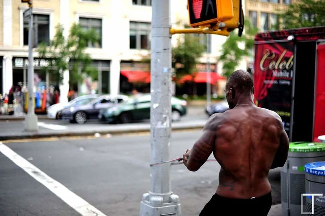 Muscle Muscles Muscleman Muscle 💪💪 50mm 1.4 New York New York City Newyork Harlem  Harlem, NYC EyeEm Best Shots Holday Vacation Showcase June Streetphotography Street Photography