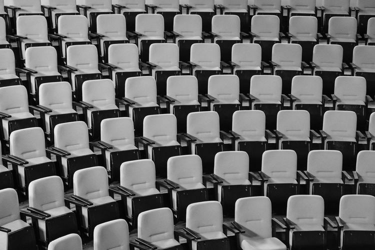 Auditorium Backgrounds Chair Day Empty Full Frame In A Row Indoors  Large Group Of Objects No People Repetition Seat Stadium