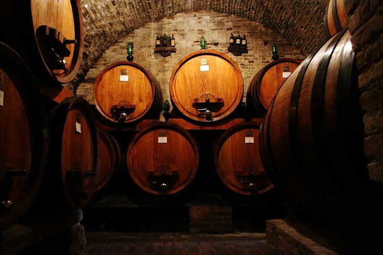 Wine Wine Cellar Montepulciano Italy Italian Wines Winery Wine Barrels Wine Moments Wine Bottles