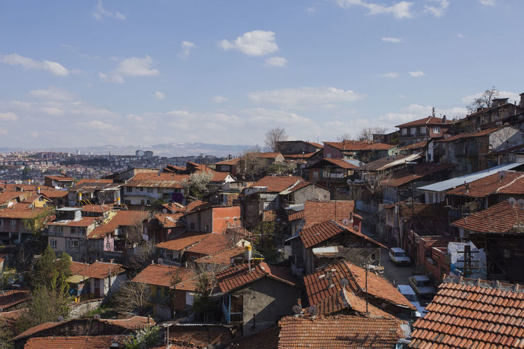 Old City Building Exterior Cross Urbanization Urban Skyline Ankara Tower Streetphotography Architecture Built Structure Building Cloud - Sky Nature Cityscape Location TOWNSCAPE