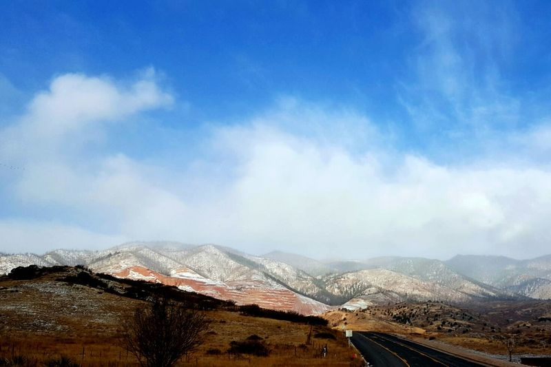 Cloudy Mountains! Outdoors Sky Landscape Day No People Winding Road Mountain Cloud - Sky Road Nature Outdoor Filterphotography TheGreatOutdoors Greettheoutdoors Rockymountains EyeEmNewHere Colorado Winter Frosted Frosty Explore Urbanlandscape ExploreEverything Photooftheday Mountain Range