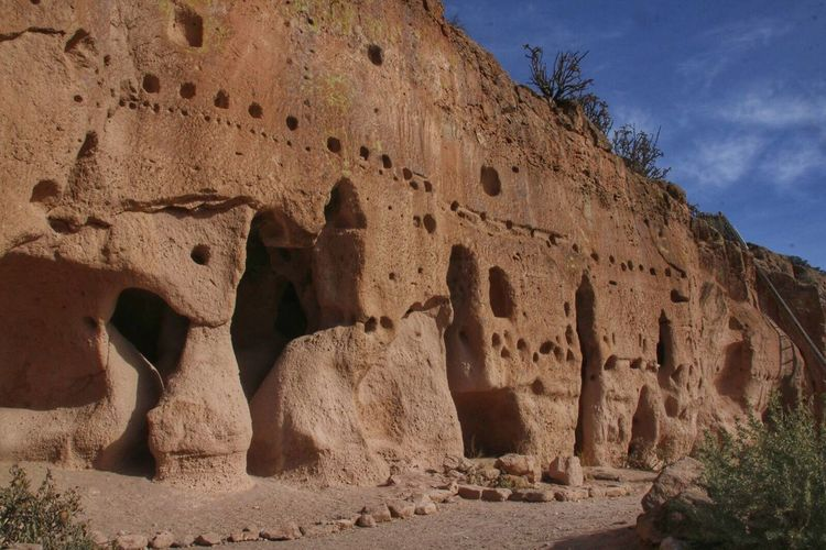 Puye Puye Cliff Dwellings Archaeology Old Ruin History Ancient The Past Ancient Civilization Architecture Outdoors No People New Mexico Pajarito Plateau Cliff Dwellings Tuff Volcanic