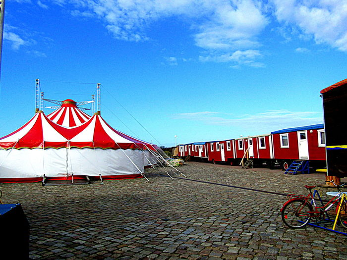 Circus At The City Habor No People Outdoors Today 2017 Zirkus In Rostock Am Stadthafeb ..heute