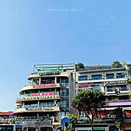 My favorite egde. #bluesky #coffeeshop #hanoi #travel #urban #Vietnam #VietnamLife #vietnamplace Building Exterior City Life Day Outdoors Travel Destinations First Eyeem Photo