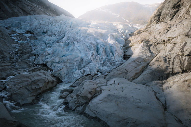 Landscape Environment Mountain Glacier Cold Temperature Ice Nature Snow Beauty In Nature No People Winter Frozen Outdoors Water Iceberg Rock Day Tranquility Scenics - Nature Formation Mountain Peak