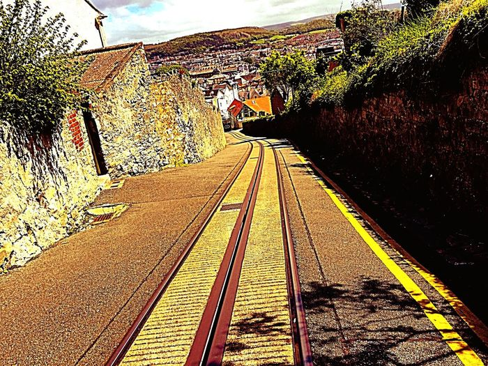 Tramway Ilovetakingphotographs Travel Photography Enjoying Life Enjoying The Sights North Wales England Train Tracks Tracks Weekend Travelphotography Northwales Tramtrack Paint The Town Yellow