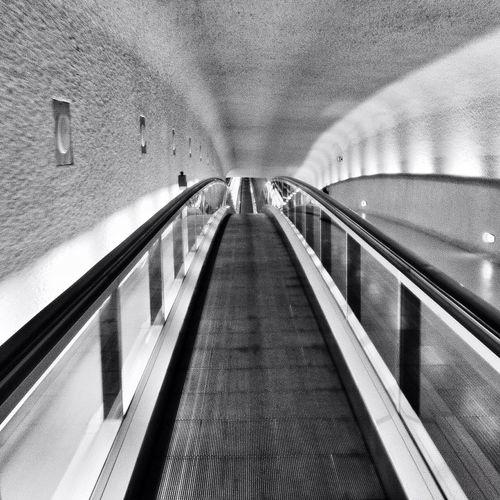 Blackandwhite Escalator Architecture Monochrome