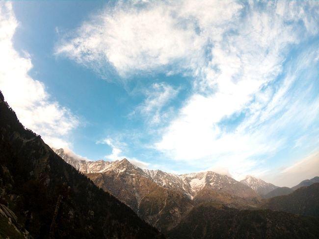 Triund Mountain Mountain Range Snow Trekking India Sky Clouds Blue Blue Sky Gopro GoProhero6 Himachalpradesh