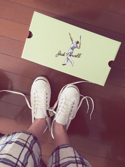 my new Converse Jack Purcell Kicks White Sneakers Summer Fashion Jackpurcell