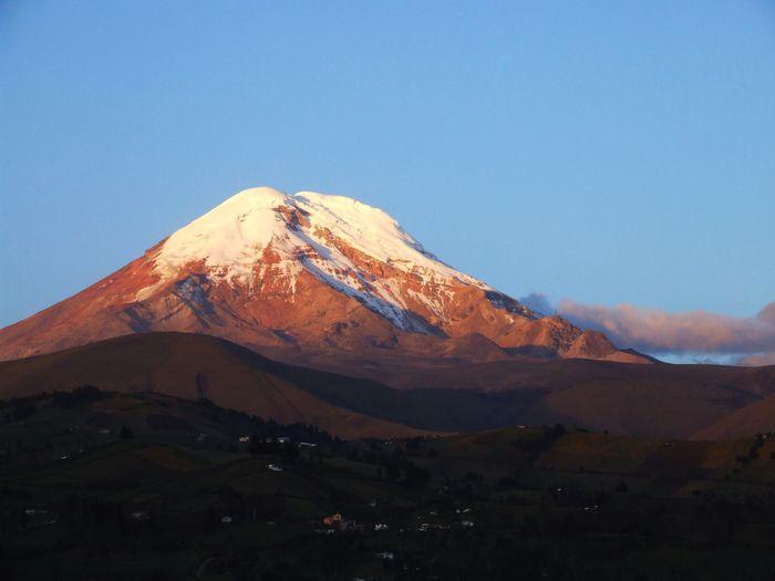 Mt. chimborazo is ecuador's highest mountain, 6310 m high