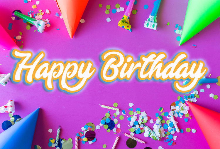 Multi Colored Western Script Text Communication No People Pink Color Celebration Event Indoors  Decoration Party - Social Event Creativity Birthday Anniversary Close-up Food And Drink Confetti Balloon Birthday Cake Illuminated Temptation Birthday Candles