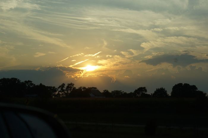 Sunset No Filter, No Edit, Just Photography Taken while traveling down the highway.