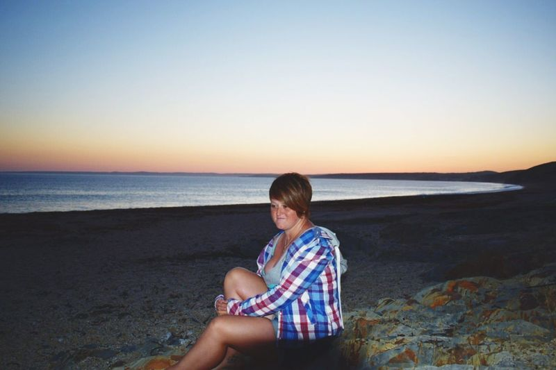 Chilling at the beach Sat On A Rock In A Checked Shirt With The Sunset In The Background EyeEm Selects Sommergefühle Chilling Horizon Over Water One Person Real People Sitting Beach Scenics Beauty In Nature Sunset Clear Sky Lifestyles Young Women Weekend Activities Outdoors Family Time ♥ Family Matters Watching The Sun Go Down Photographing The Photographer Ginger Hair And Brown Eyes Love Yourself Summer Exploratorium