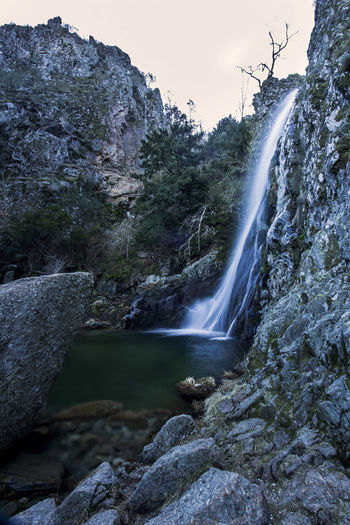 Hell`s Well Flowing Water Lagoon Landscape Motion Mountain Nature No People Outdoors Rock - Object Rocks Travel Water Waterfall
