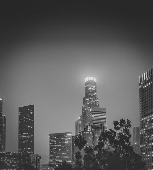 Downtown Los Angeles Skyline in Black and White Architecture B&w Black And White Blackandwhite Building Exterior Built Structure City Cityscape Day Downtown Los Angeles DTLA DTLA Skyline Modern No People Outdoors Sky Skyscraper Urban Urban Skyline Adapted To The City