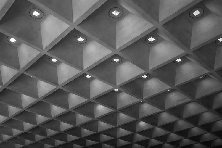 Louvre museum Abstact Abstract Arch Architectural Feature Architecture Arcitecture B&w Black And White Built Structure Ceiling Design Fuji Fujifilm Indoors  Low Angle View Pattern Pattern Pieces Repetition Tiled Floor X100 X100S Xseries