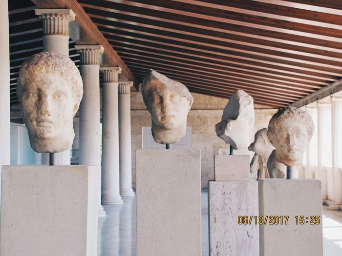 EyeEmNewHere Athens, Greece History Statue HEAD Ancient Ancient Agora Of Athens