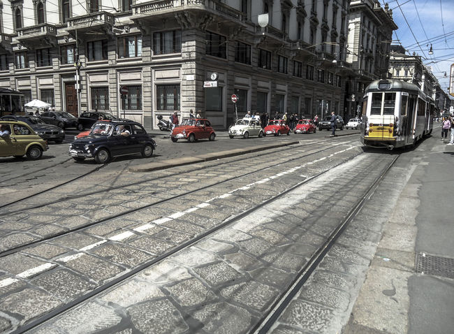 Architecture Built Structure Car Cita City Land Vehicle Milan Milano Mini Cars Mode Of Transport Streetphotography Sunlight Tram Travel Destinations