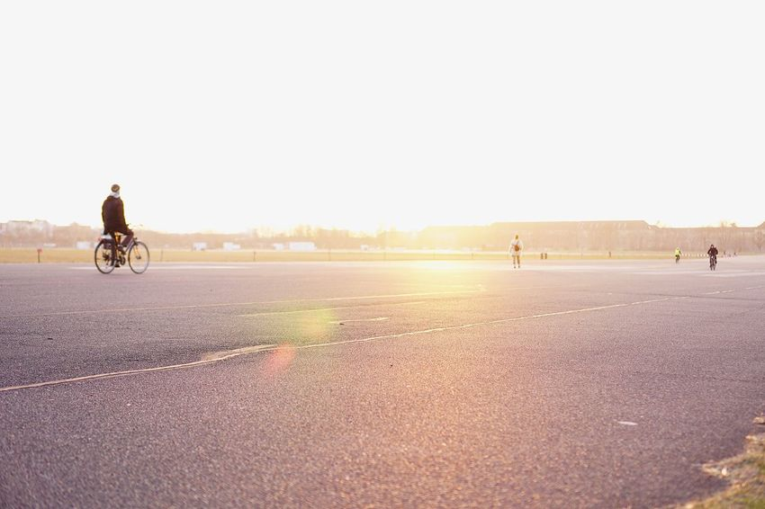 Sunlight Berlin EyeEm Selects Only Men Full Length One Man Only One Person Bicycle Adults Only Cycling Adult People Outdoors Sports Clothing Motion Day Men Road Sportsman
