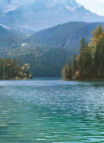 Adventure Alps Bavaria Beauty In Nature Blue Calm Eibsee Forest Idyllic Lake Landscape Mountain End Of Summer Autumn Mountains Nature No People Non-urban Scene Outdoors Tourism Tranquil Scene Travel Traveling Water Zugspitze The Great Outdoors - 2017 EyeEm Awards