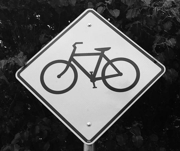 Bike into the sky Communication Sign Warning Sign Shape Road Sign No People Road Symbol Design
