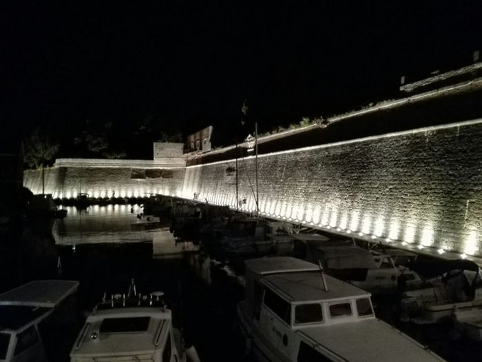 Reflection Night Outdoors Water Architecture Croatia🇵🇾 Zadar,Croatia Boats, Dock Night View Nightshot Night Light Zadar Old Town Zadar Lights