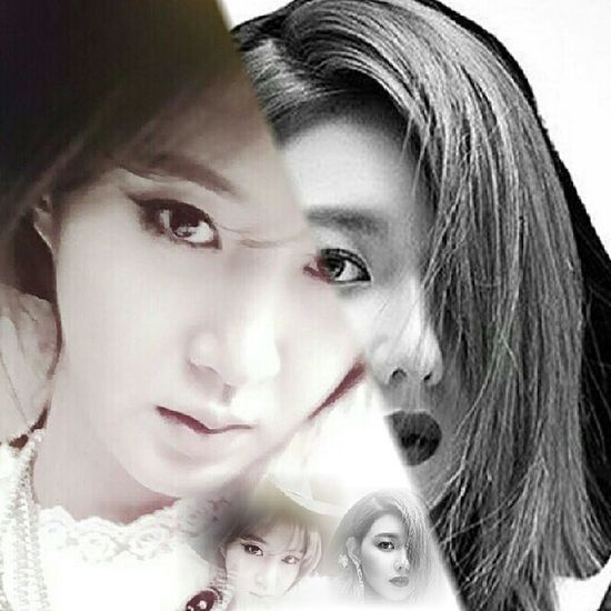 Black & white beautiful eyes Idol GirlsGeneration Sone Soshi SNSD Yuri Sooyoung