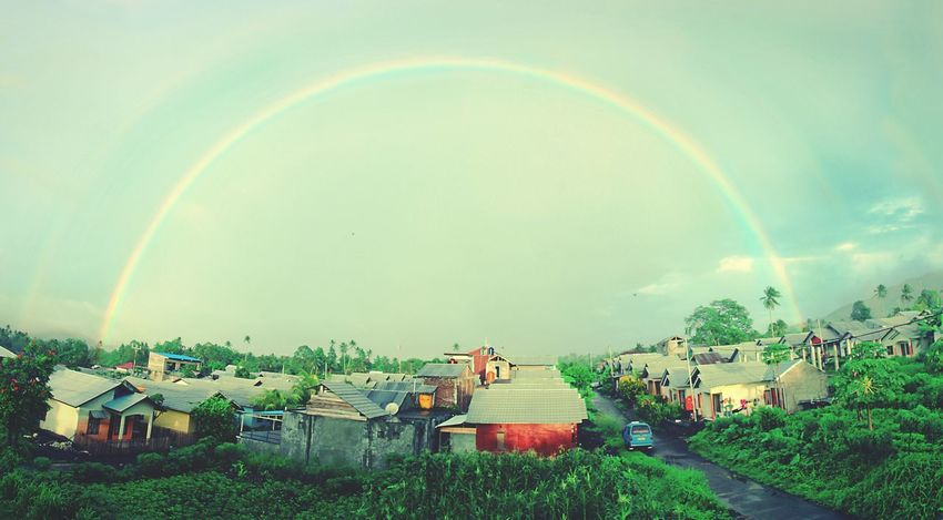 Rainbow Rainbow🌈 Double Rainbow Manado Landscape_photography Landscape_Collection Great Outdoors EyeEm Best Shots Nature's Diversities EyeEm Nature Lover Landscapes With WhiteWall New Year Around The World EyeEm Dec 31st, 2015 by The Greatest Artist Himself
