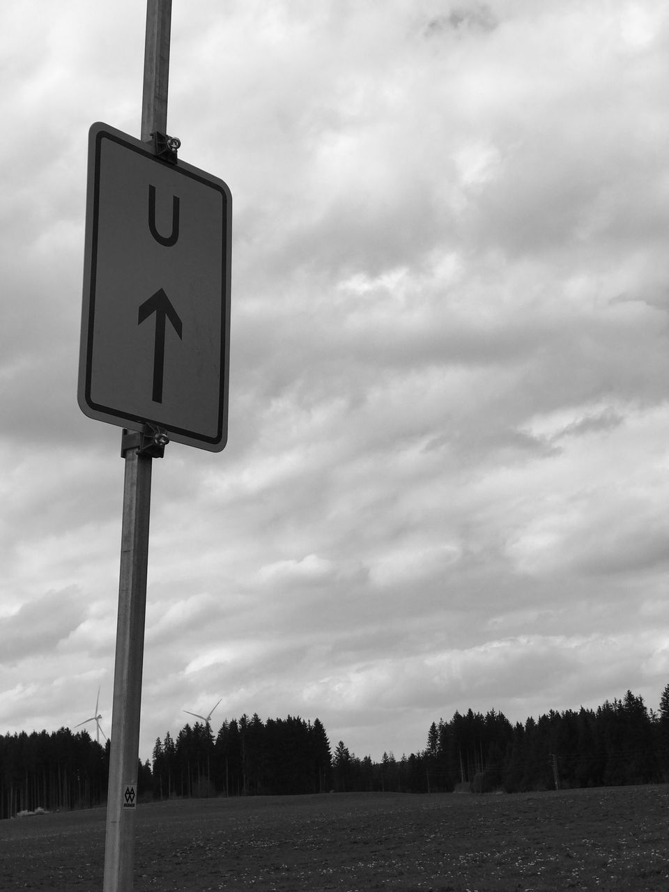 sky, communication, cloud - sky, guidance, day, road sign, outdoors, no people, nature, road
