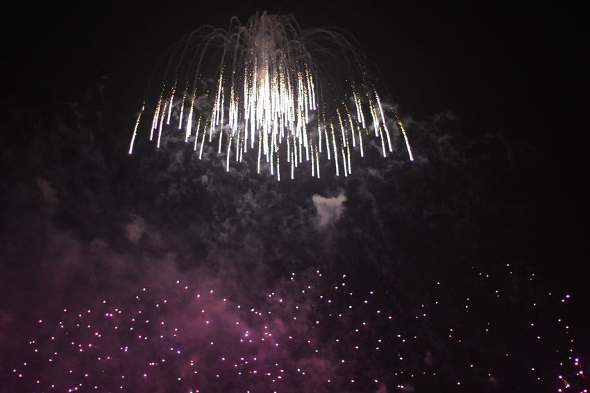 Firework Firework Display Illuminated Low Angle View Night No People Outdoors Sky