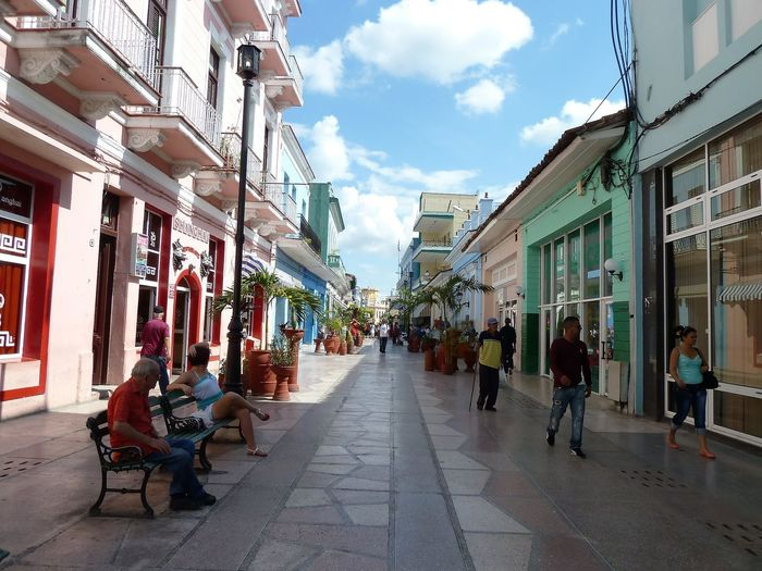 Just life: Cuba Architecture Building Exterior Built Structure City Cloud - Sky Day Group Of People Outdoors Sky Women