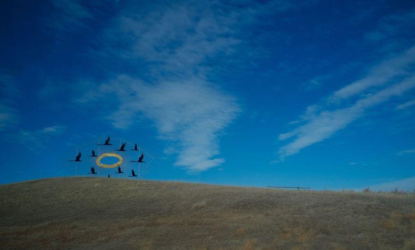 2-5-16 Atmospheric Mood Blue Cloud Cloudy Copy Space Desert Dusk Environmental Conservation Horizon Over Land Journey Landscape MidWest Non-urban Scene North Dakota Outdoors Perspective Remote Sand Dune Scenics Sky Tranquil Scene Tranquility Western North Dakota