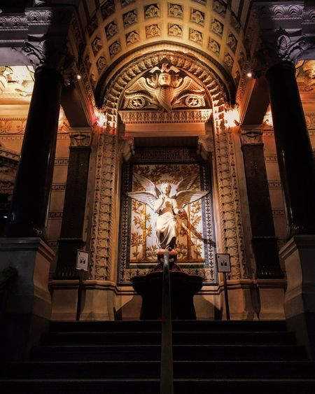 Holy Mary 🌹 Market Marketplace Church Church Architecture Holy Art Holy Place Statue Human Representation Male Likeness Sculpture Low Angle View Architectural Column Architecture No People Indoors  Day Built Structure Spirituality Travel Destinations
