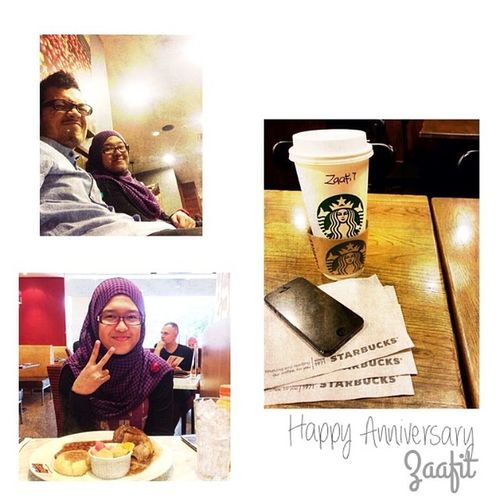 Happy Anniversary @nurzaheera. Thank you for bringing such joy and happiness throughout this journey. Its an honor for me to be part of your lovely adventure :) :) Anniversary Zaafit 26 /4/14 Longevity InstaSize