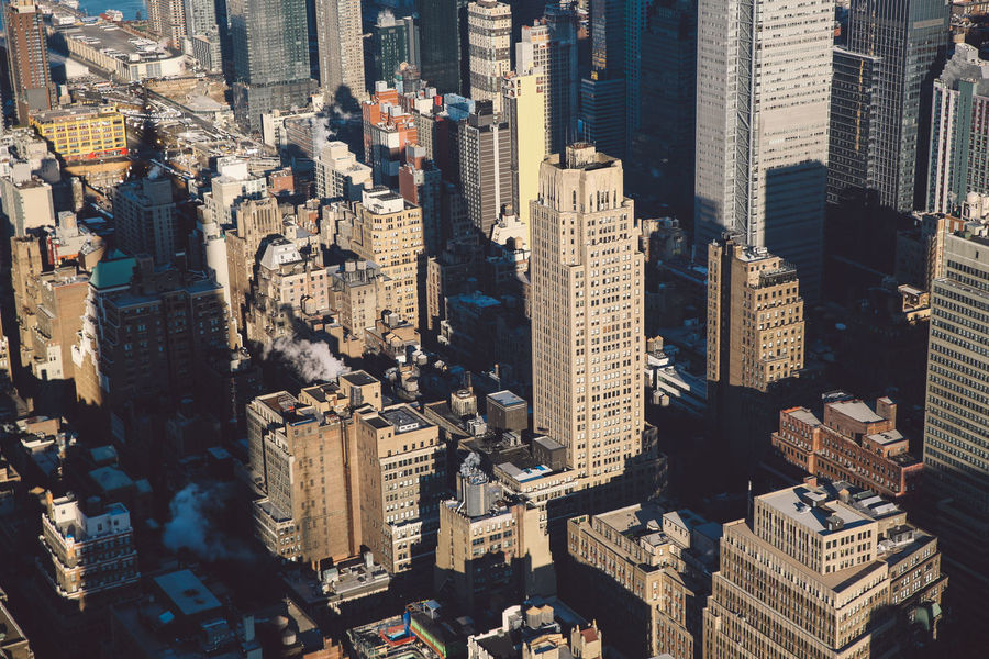 Aerial View The City Light Architecture Building Exterior Built Structure Business Finance And Industry City Cityscape Cold Empire State Building Manhattan Modern Morning New York New York City NYC Outdoors Roof Rooftop Skyscraper Sunlight Sunrise Travel Destinations Urban Skyline Winter Welcome To Black Neighborhood Map The Architect - 2017 EyeEm Awards Lost In The Landscape