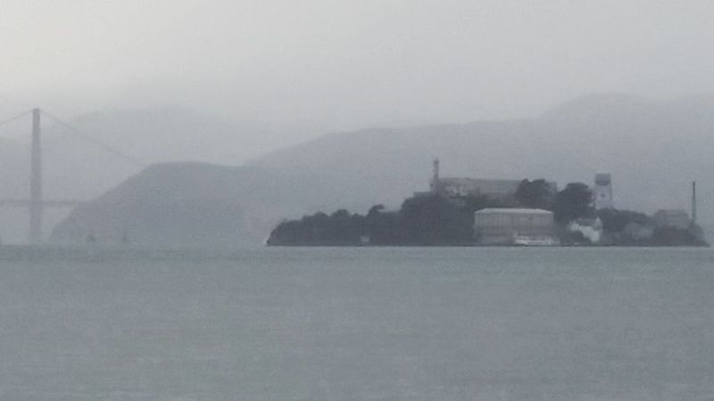 Alcatraz In Sight Foggy Morning Foggy Day Bay Area