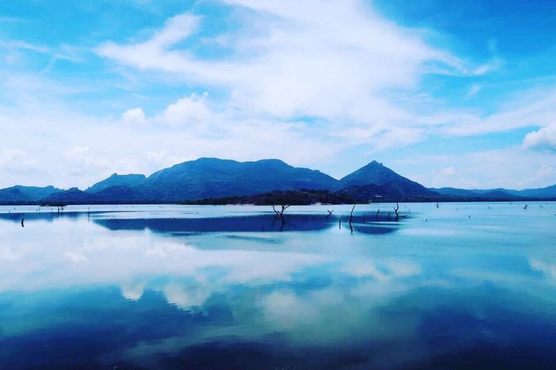 Nature in Sri lanka 😍❤️ Water Mountain Sky Reflection Beauty In Nature Scenics Tranquility Tranquil Scene Cloud - Sky Nature Blue Mountain Range Lake Outdoors No People Waterfront Day Iceberg Sri Lanka Dambulla ASIA Trip Travel Travel Destinations Travel Photography