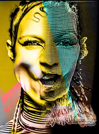 Photographic Approximation Facial Experiments Yellow Rasterisations May Or May Not Forgotten Dreams New Nightmares Faded But Not Forgotten