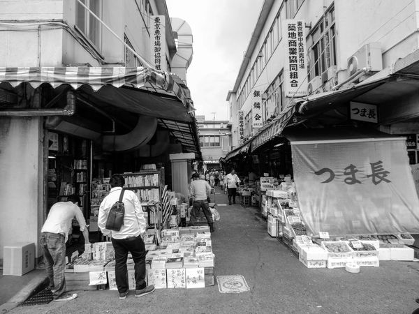 Tsukiji Fishmarket Tokio, Japan, B&w Street Photography Showcase: December Tokyo Travelblogger Earth Trek Streetphotography Travel Photography EyeEm Best Shots Black & White Traveling