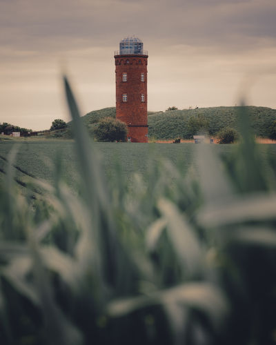Lighthouse by lake