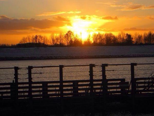 Rijn Sunset MooieZaterdagAvond