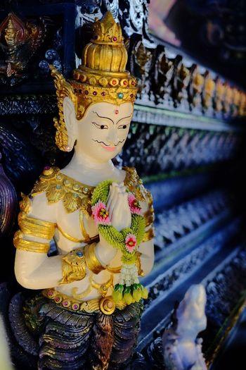 Deva in Thai Temple Statue Sculpture