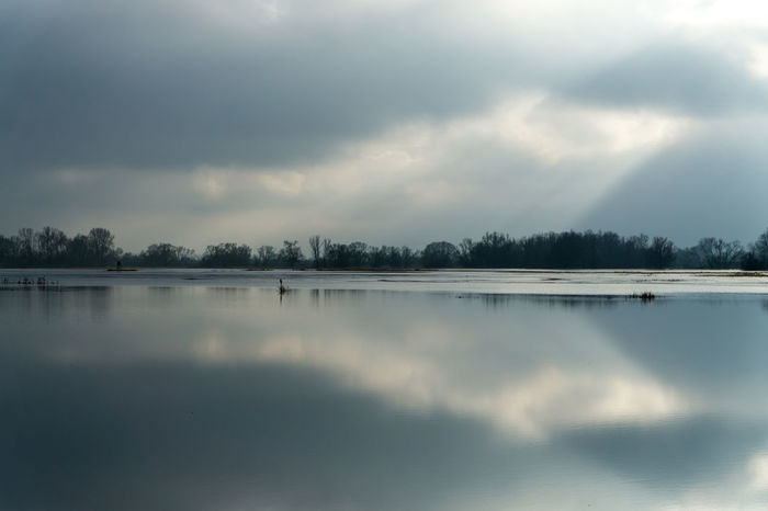 Landsscape photography in the area of Oderbruch in Germany. Dramatic Sky Mirror Reflection Beauty In Nature Cloud - Sky Cold Temperature Day Idyllic Lake Nature No People Outdoors Reflection Scenics Sky Tranquil Scene Tranquility Tree Water
