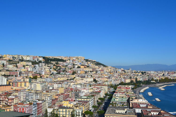 Beautiful City Cityscape Naples View Architecture Blue Building Exterior Built Structure City Cityscape Clear Sky Community Day Italy No People Outdoors Place To Visit Residential Building Sky Travel Destinations