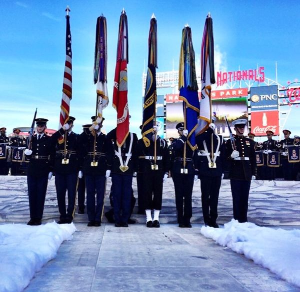 U.S Military parade in Washington DC USA Us Military U.S Army USMC USAF U.S. Navy U.S Coast Guard Parade