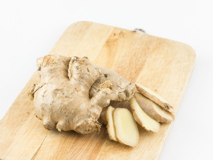 Raw ginger on